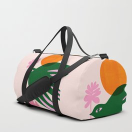 Abstraction_BIRD_SUN_Beautiful_Day_Minimalism_001 Duffle Bag