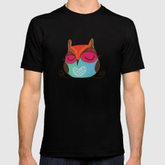 Owl Black X-LARGE Mens Fitted Tee