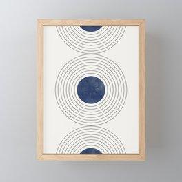 Geo Blue Balance Framed Mini Art Print