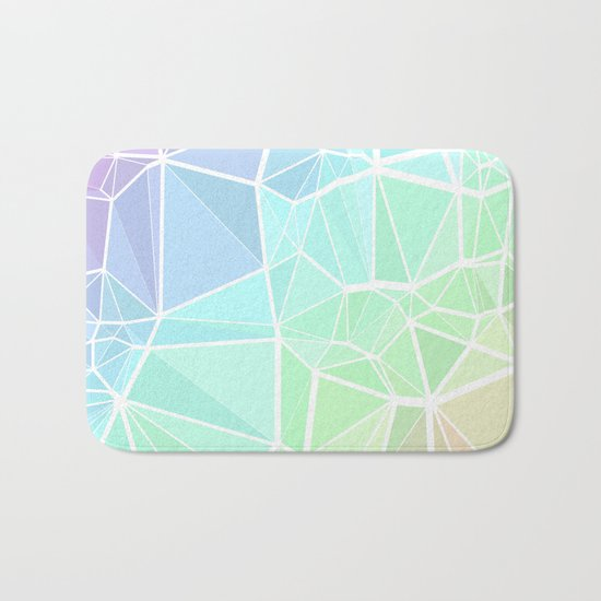 Rainbow Triangles Bath Mat