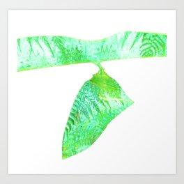 Minimalist Green Cocoon with Ferns Art Print