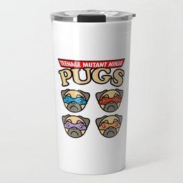 Teenage Mutant Ninja Pugs Travel Mug