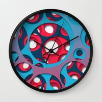 vertigo Wall Clocks featuring Vertigo by Azarias