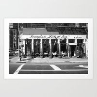 broadway Art Prints featuring Broadway by Jon Cain