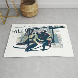 Goalie - Ice Hockey Player Rug