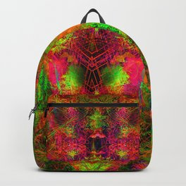 Jungle Fire (abstract, psychedelic, visionary) Backpack