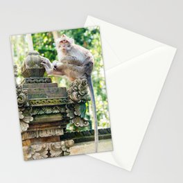 Monkey Forest | Nature Animal Photography in Bali Indonesia Stationery Cards