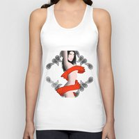 women Tank Tops featuring Women by CLEMUS_THINGS