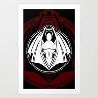 Fallen Image Emblem Art Print