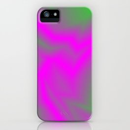 Blurry outlines of lightning with a swirling gap. iPhone Case
