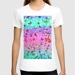 Glitter butterflies T-shirt