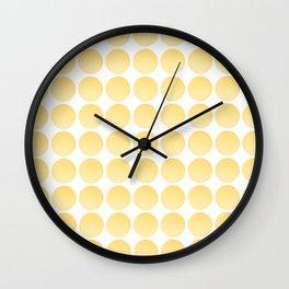 Yellow Balls Wall Clock