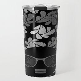Afro Diva Black & Gray Travel Mug