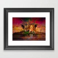 Wisdom only spreads its wings when souls true light begins to sing Framed Art Print
