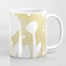 Whimsical watercolor flowers – yellow Coffee Mug