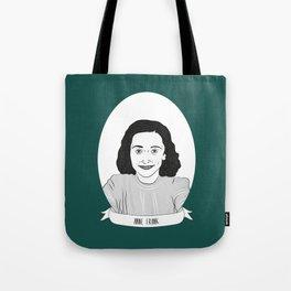 Anne Frank Illustrated Portrait Tote Bag
