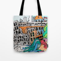 community Tote Bags featuring Community by sam kirk