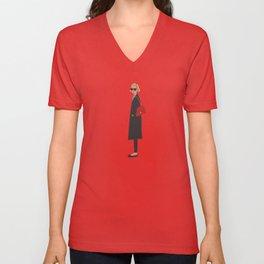 New Yorker, fashion illustration, fashion, girly, art print Unisex V-Neck