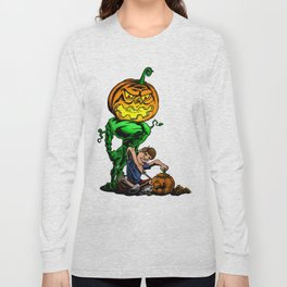 Pumpkin Head Long Sleeve T-shirt