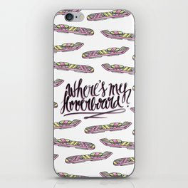 where's my hoverboard? iPhone Skin