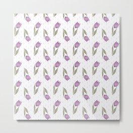 Lilac tulips Metal Print