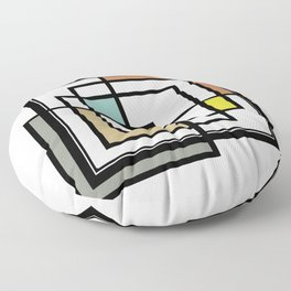 Mid Century Modern Squares Floor Pillow