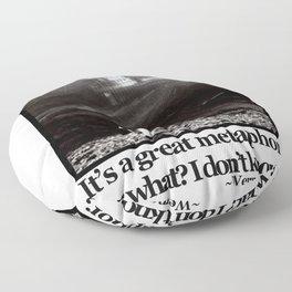 Fitzcarraldo Quote Floor Pillow