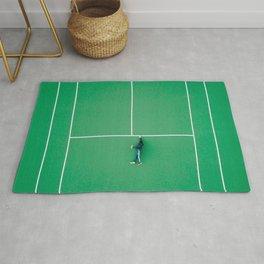 Tennis court green Rug