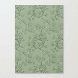 The Night Gardener - Endpapers Canvas Print