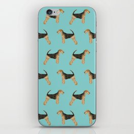 Airedale Terrier pattern dog breed cute custom dog pattern gifts for dog lovers iPhone Skin