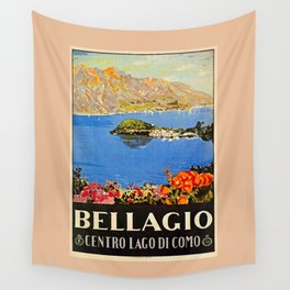 Italy Bellagio Lake Como Wall Tapestry