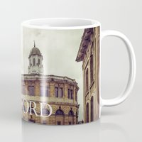 theater Mugs featuring Oxford: Sheldonian Theater by Solar Designs