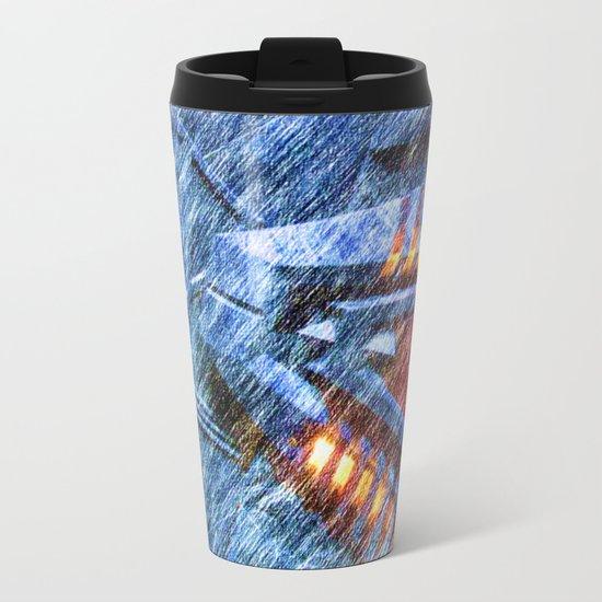 Chevron Metal Travel Mug