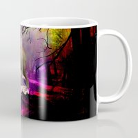decal Mugs featuring Fantasy forest by haroulita