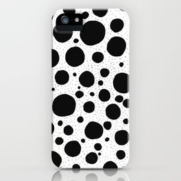 Mono dots iPhone Case