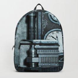 Silver Steampunk Generator Machine Backpack