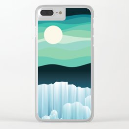 Up North (Midnight version) Clear iPhone Case
