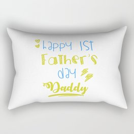 Cool First Fathers Day Best Dad AF Saying Son Gift Rectangular Pillow