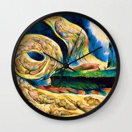 William Blake - The Lovers' Whirlwind, Francesca da Rimini and Paolo Malatesta - Digital Remastered Edition Wall Clock