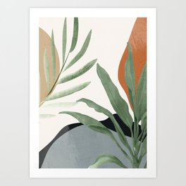 Abstract Art Tropical Leaves 10 Art Print