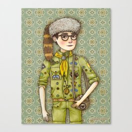 Sam Portrait from Moonrise Kingdom Canvas Print