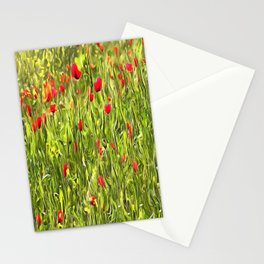 Surreal Hypnotic Poppies Stationery Cards