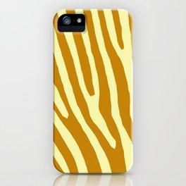 Chocolat Zebra iPhone Case