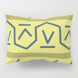 Line Lining on Yellow Strips Pillow Sham