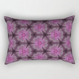 Glowy Butterflies–Pink & Magenta Palette Rectangular Pillow