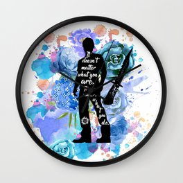 Sam Winchester Quote Wall Clock