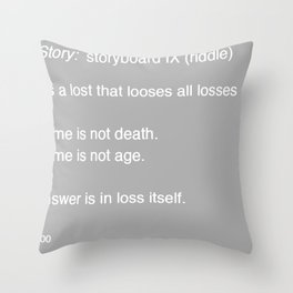 Time Story:  Storyboard IX (riddle) Throw Pillow