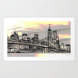 NYC_skyline Art Print
