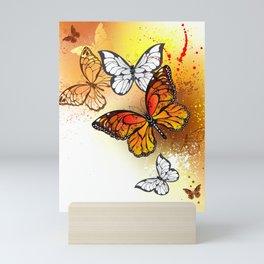 Summer Butterflies Monarchs Mini Art Print