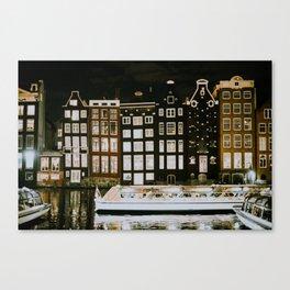 A Night in Amsterdam Canvas Print